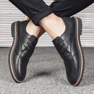 Image 4 - Brand Men Oxfords Shoes British Style Men Genuine Leather Business Formal Shoes Dress Shoes Men Flats Top Quality Loafers