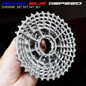 Image 1 - Free Shipping SLR 11s  28T Cassette Racing  Speed Gravel Bike  36T    34T Ultralight K7 V  32T CNC Flywheel