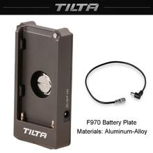 Tilta placa de bateria f970 12v 7.4v, porta de saída com 1/4 20 furos de montagem feitos de alumínio