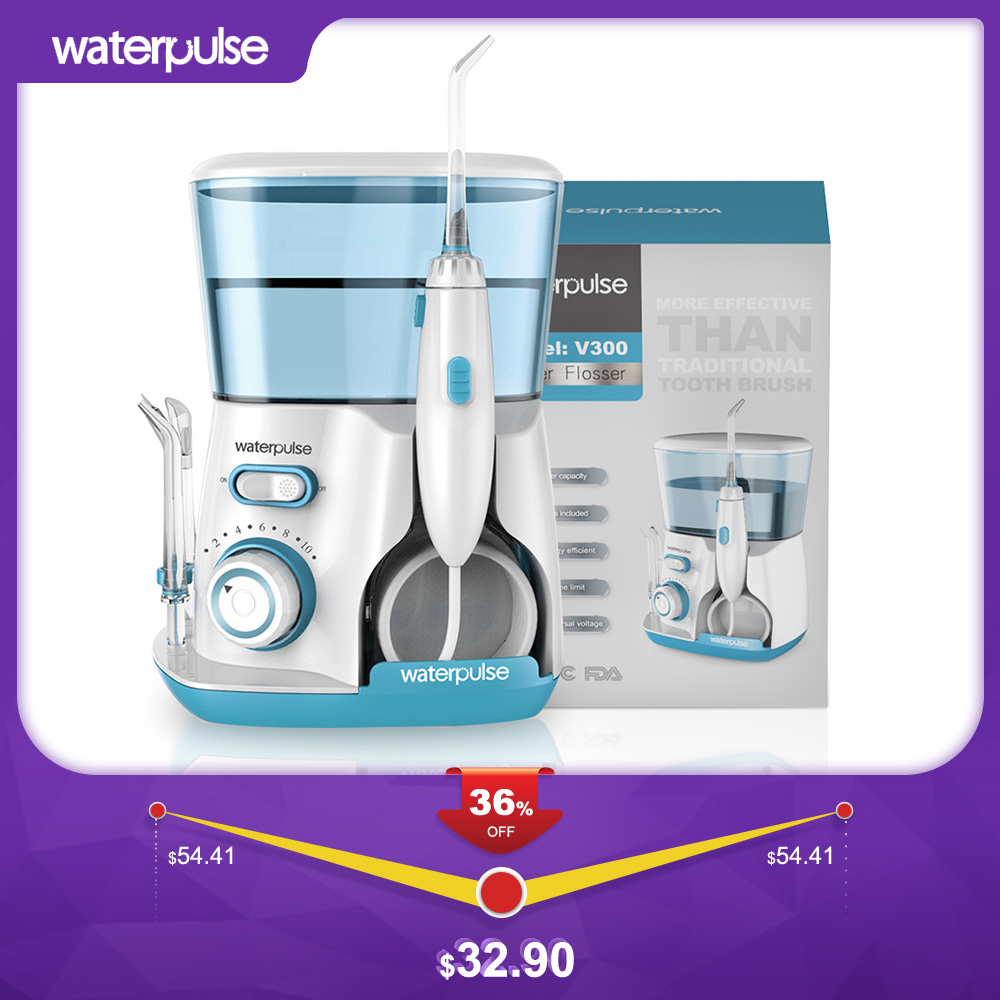 Waterpulse Oral-Irrigator Tips Electric-Cleaner Dental-Flosser Oral-Hygiene 800ml V300G title=