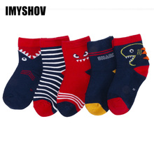 5Pairs/Lot Cotton Kids Socks Winter Warm Girls Boys Socks For Children Cartoon A