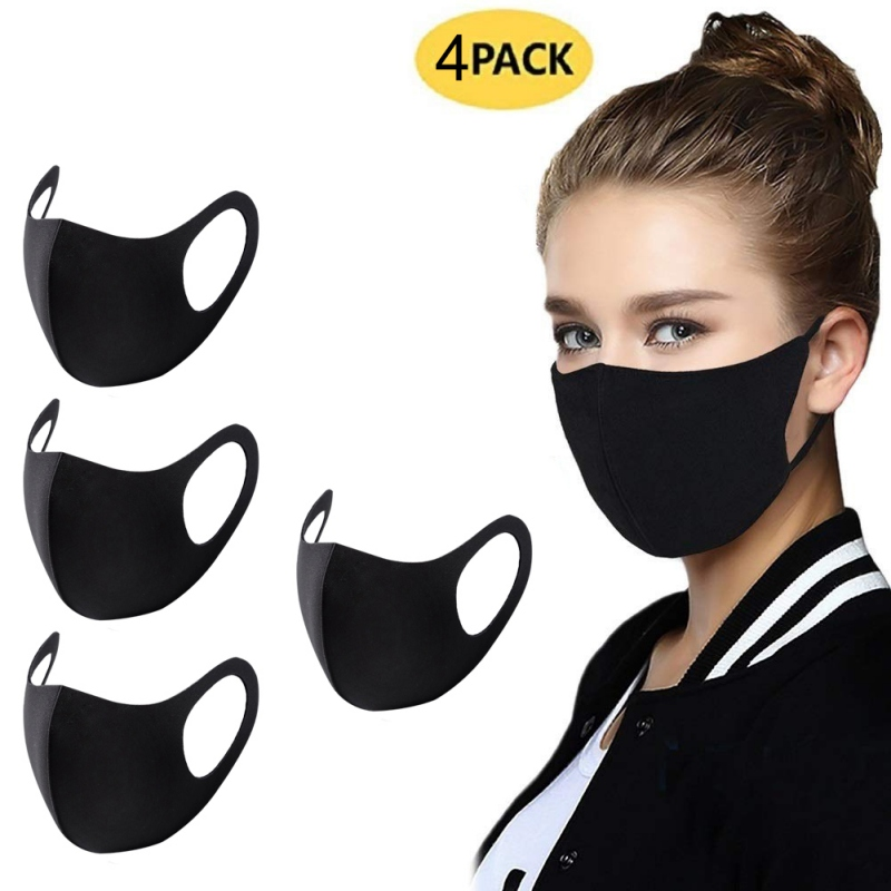 Unisex Washable Ice Silk Masks Face Mouth Respirator Dust-proof Breathable Filter For Outdoor Party Anti-fog Fast Drop Shipping 3