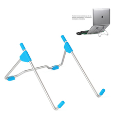 Foldable Adjustable Laptop Stand Office Desk Notebook Lightweight Bracket Cooling Heat Reduction Holder Mount Aluminum Alloy