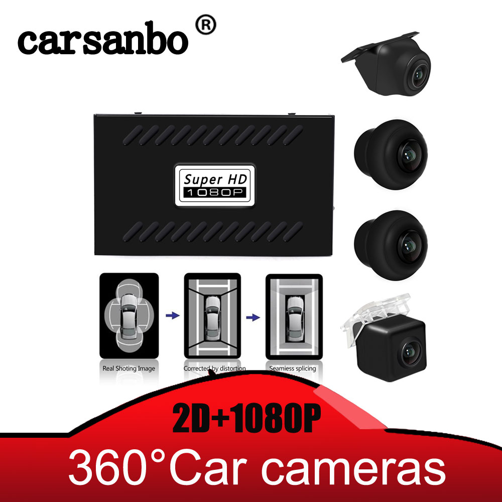 Universal Car DVR HD 1080P 2D 4 Camera 360 Surround View System Parking Reverse Bird View Panoramic System Seamless Recording
