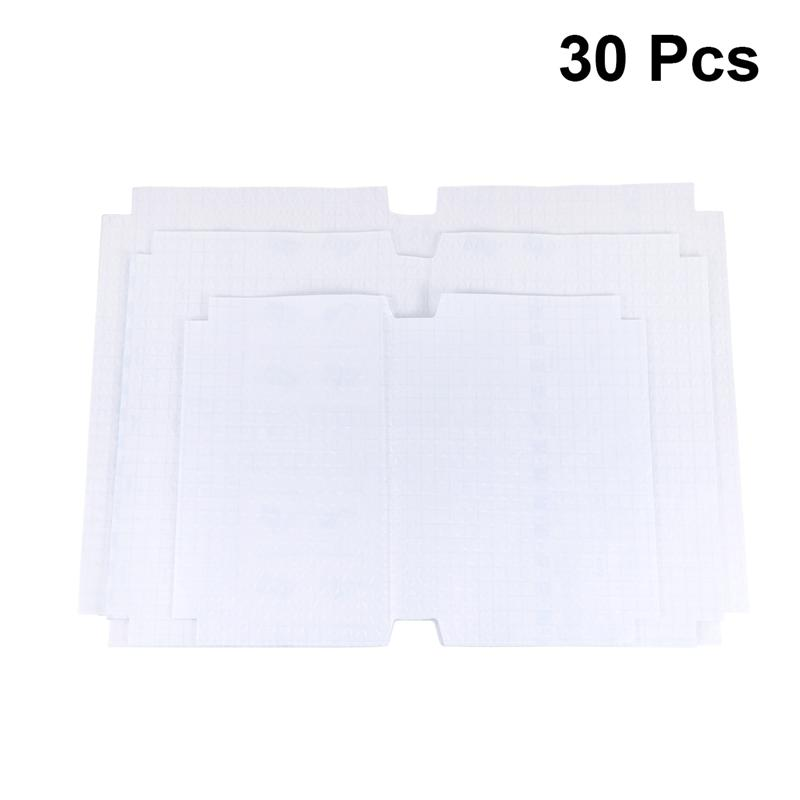 1 Set/30pcs Slipcase ABS Safety Waterproof Nubuck Transparent Self Adhesive Book Cover (Large Size + Middle Size + Small Size)