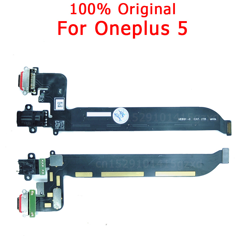 Original Flex Board For Oneplus 5 Charging Port For One Plus 5 Charger Board USB Plug PCB Dock Connector Spare Parts