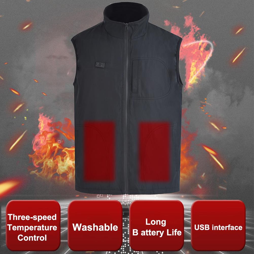 Keptfeet USB Charged Electric Heating Vest for Outdoor Camping Hiking Lightweight Washable Unisex Electric Heated Clothing