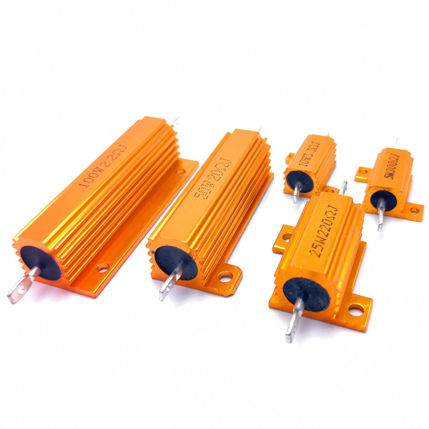 100W High Power 15 Ohm 15R Golden Aluminum Shell Case Wirewound Resistor 5/%