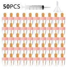 8ML Nachfüllbare Lip Gloss Rohre Rosa Kunststoff Leer Make up DIY Lip Gloss Behälter Machen up-Tools