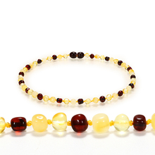 DOREMI 1Cherry1Gold1Honey Baby Teething Amber Bracelet Necklace for Boys Girl Amber Beads Natural Baltic Amber Neckace Jewelry yoowei 47cm amber necklace for women gogerous gift boho european design 5 6mm baltic amber beads collars amber jewelry wholesale