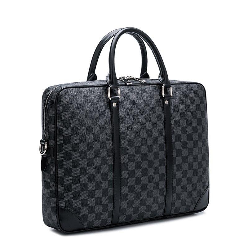 Роскошные деловые сумки в европейском и американском стиле, новый модный мужской портфель, сумка для ноутбука из искусственной кожи, сумка