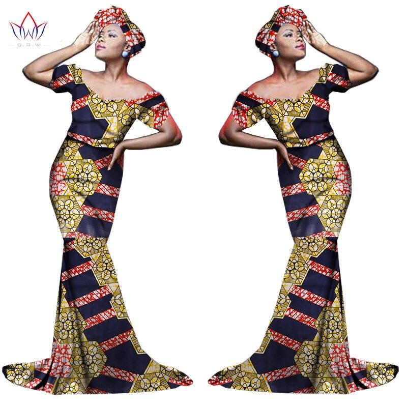 Африканский хлопчатобумажный материал Платья Для Женщин Дашики традиционная Анкара Мода Африка одежда с коротким рукавом Анкара платья WY963 - Цвет: 27