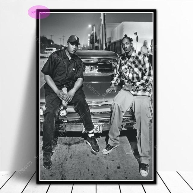 61x91.5cm Dr Dre /& Snoop Dogg Poster Canvas Old School Rap Hip Hop Print