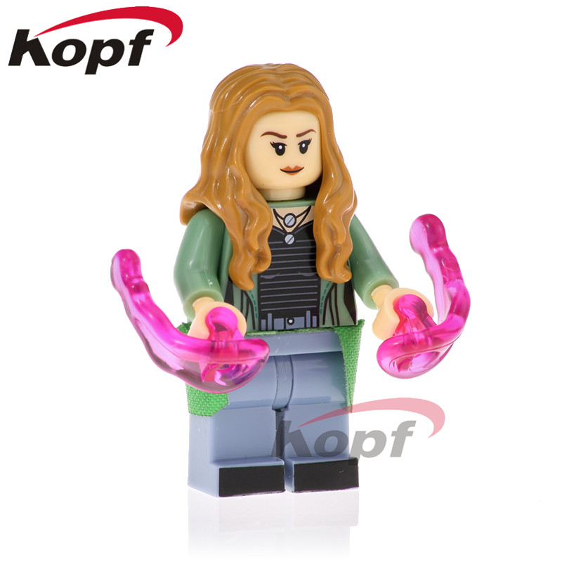 Bloques de construcción venta única figuras de bruja escarlata visión Starhawk colector Thanos superhéroes ladrillos niños juguetes regalo XH 877