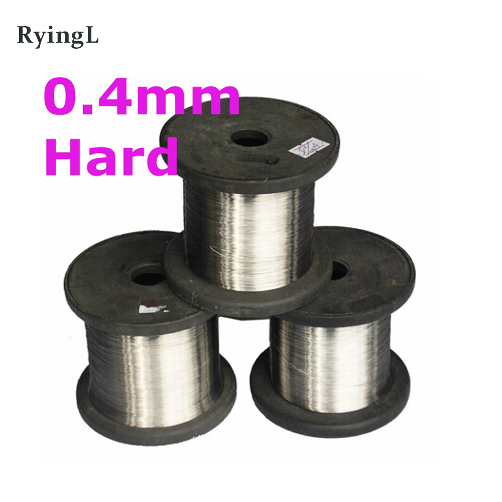 0.4mm SS304 Stainless Steel Wire Spools Hard Condition Bright Smooth Surface 100meters