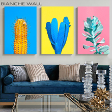 Stylish Trendy Fruit Leaves Colorful Background Canvas Poster Wall Art Canvas Painting Wall Pictures for Living Room Home Decor