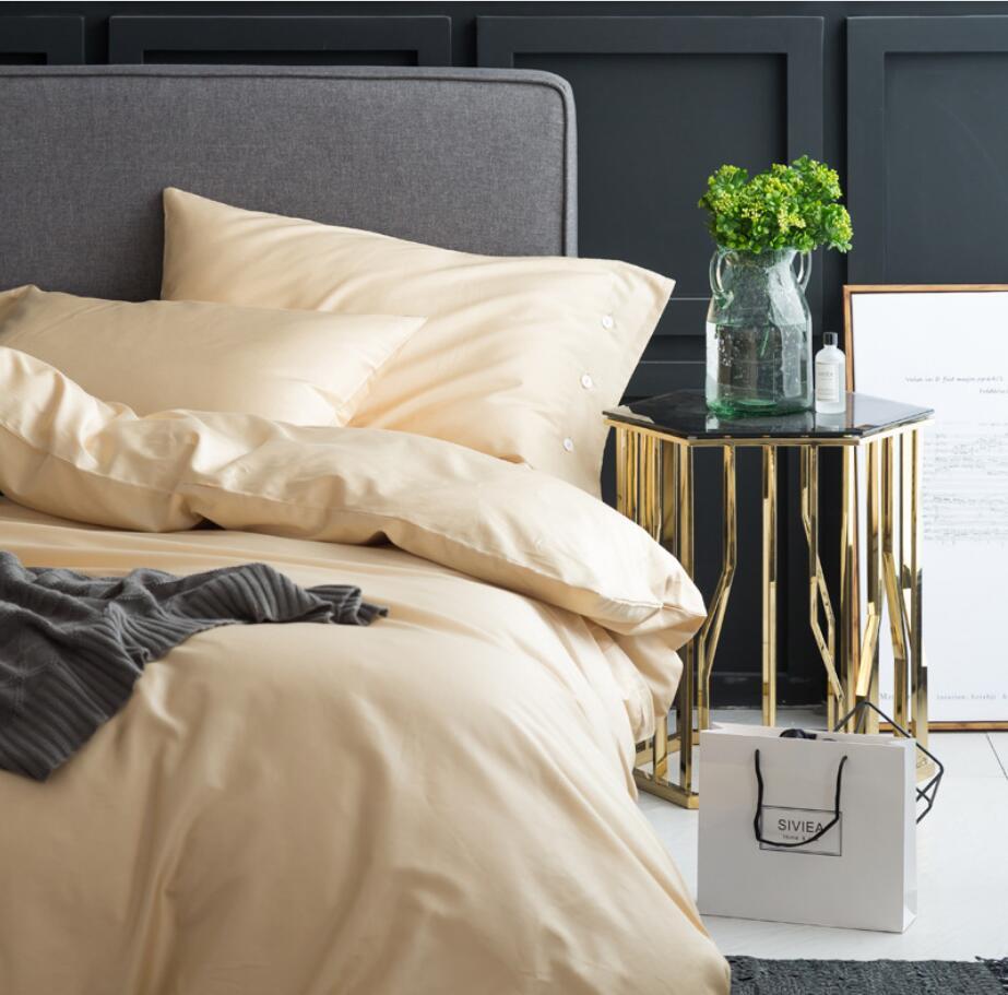 Ev ve Bahçe'ten Yatak Takımları'de Koyu renk yatak setleri Lüks Mısır pamuk nevresim Kral kraliçe 4 Adet Yatak Örtüsü yatak çarşafı Keten Yastık Kılıfı'da  Grup 1