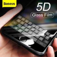 Baseus 5d protetor de tela vidro temperado para iphone 8 7plus capa completa protetora filme de vidro temperado para iphone 8plus 7plus