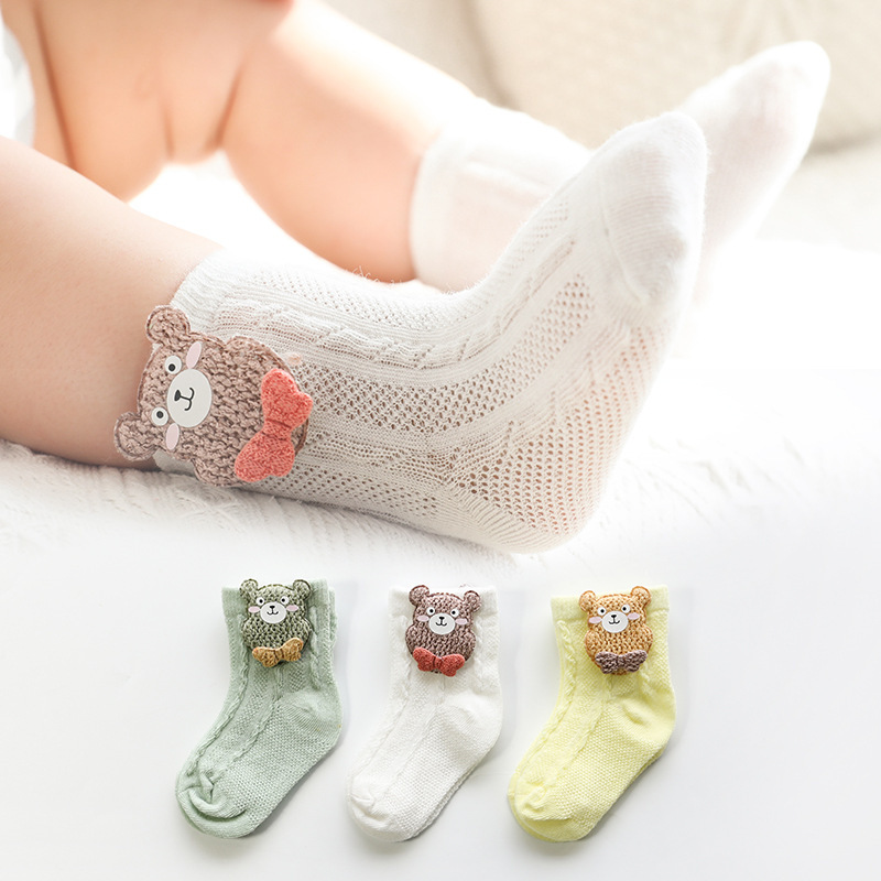 3 Pairs / lot Baby Socks Mesh Socks Thin Cotton Models Boys Girls Socks Boneless Suture Newborn Socks Accessories Children Socks 6