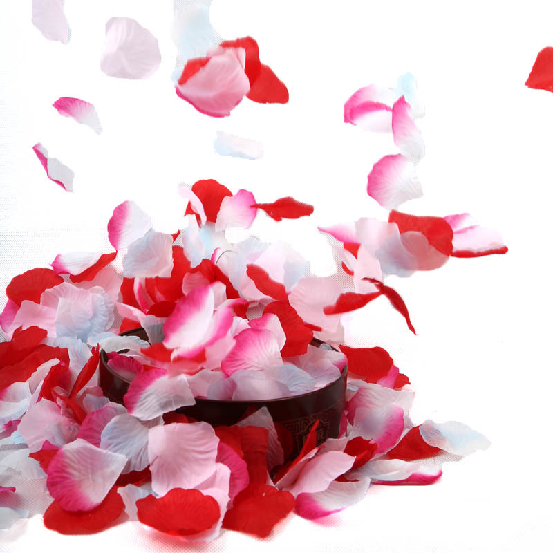 BGW 20131ht Rose Petals 1000pcs BULK Silk Colors Fabric Loose Pink Artificial Wedding Engagement Decorations Flower Petal