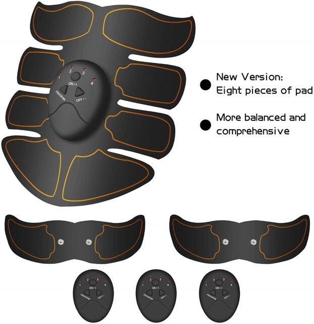 Abdominal Muscle Stimulator Trainer Smart Wireless Abs Stimulator Fitness EMS Muscle Massager Electric Slimming Massage Machine 3