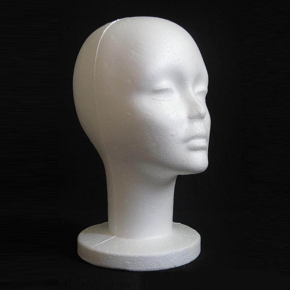 Fashion Female White Foam Mannequin Hat Cap Wig Women Head Display Holder Model Training Head Mannequins