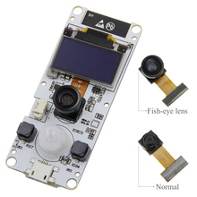 TTGO T-Camera ESP32 Fish-eye wide angle lens Camera WROVER & PSRAM Camera Module ESP32-WROVER-B OV2640 Camera Module 0.96 цена