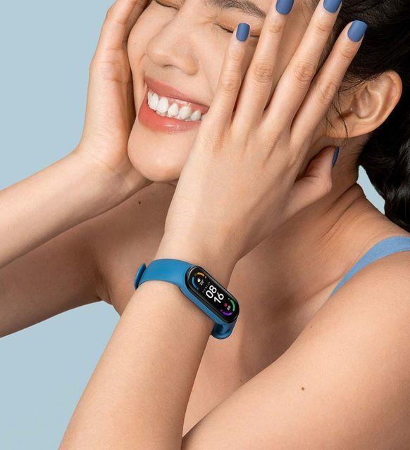 "Original Xiaomi Mi Band 6 Sport Wristband Heart Rate Fitness Tracker Miband 6 1.56 "" AMOLED Screen Smart Band 5 Color Bracelet 6"