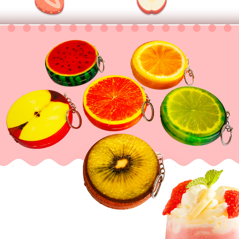 Jumbo Lemon Watermelon Keychain Squishy Fruit Squishies Cream Scented Slow Rising Squeeze Toy Baby Kids Party Birthday Fun Gift