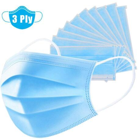 50PCS High Quality Mask Earloop Face Mouth Masks Three-layer Protective Mask Anti-pollution Mask Anti-dust Mask 4