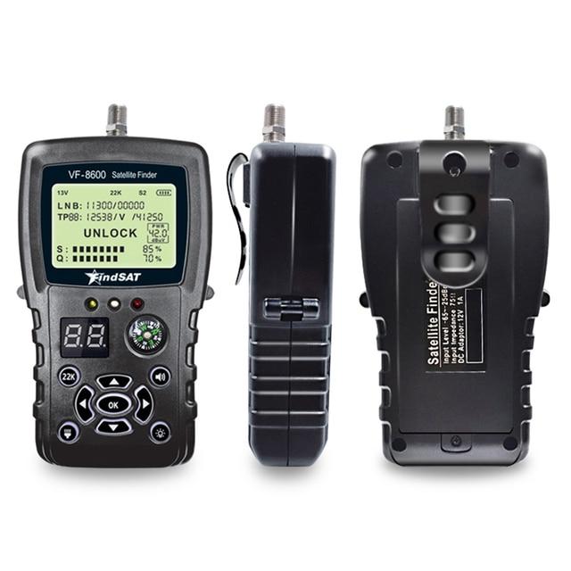 VF 8600 Satellite Finder For Satellite TV Receiver Satfinder With Compass sat Finder Full support DVB S/DVB S2/MPEG 2/MPEG 4