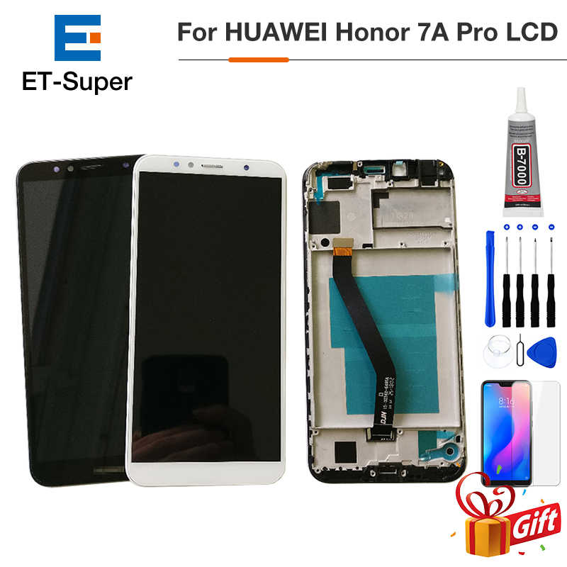 5.7 polegada Para Huawei Honor Aum-L41 AUM-L29 7A Pro LCD Screen Display Toque Screen Display LCD Com Frame + Temperado vidro + Cola + Ferramenta