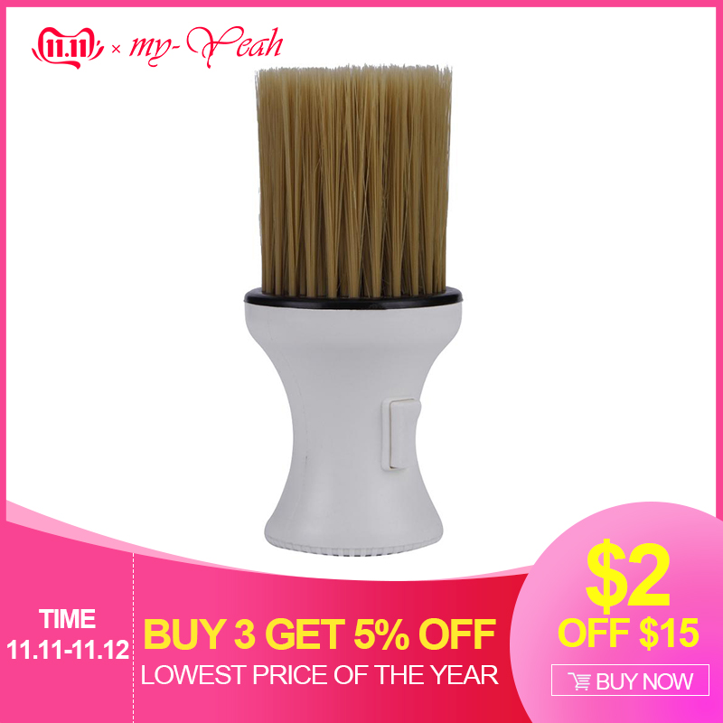 Pro Salon Plastic Clean Shaving Brush Cutting Face Neck Duster Cleaning Remove Brushes Combs Hairdressing Barber Styling Tools