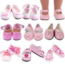 Buty dla lalek buty 7 Cm Kitty śliczne brezentowe buty dla 18 Cal American & 43 Cm Baby noworodki Doll Generation zabawka dla dziewczynek 1/3 Blyth