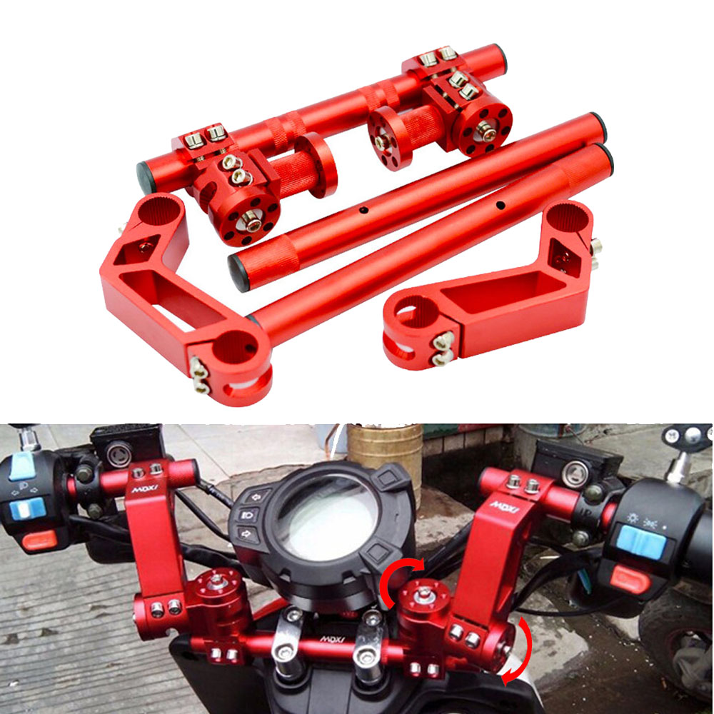 Mechanical Arm Style Motorcycle Aluminum Adjustable Handlebar Foundation 22mm 7 8inch For Scooter MiniBike Go kart Street Bike