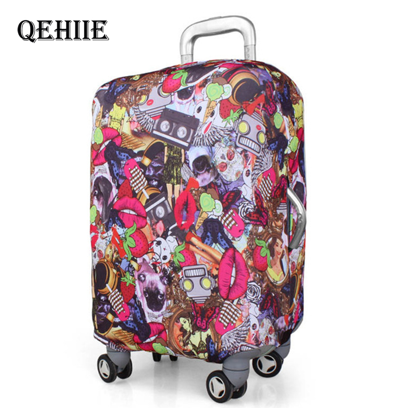 Leopard Sexy Suitcase Protective Cover Love Heart Shaped Luggage Case Dust Cover For 18-32 Inch Suitcase 2019 Travel Accessories