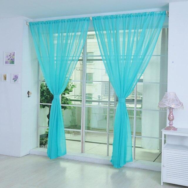 2019 Rainbow Tulle Curtain Curtain Window Curtain Window Transparent Scarf Valance Modern Bedroom Living Room Curtains 11 Colors 5