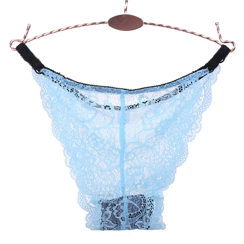 Women/'s Lace Panties Briefs Breathable Solid Color Perspectives Erotic Underwear