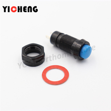 1pcs DS-211 DS-213 Push Button Switch 10mm Momentary / Self Locking Round  DS211 DS213  miniature стоимость