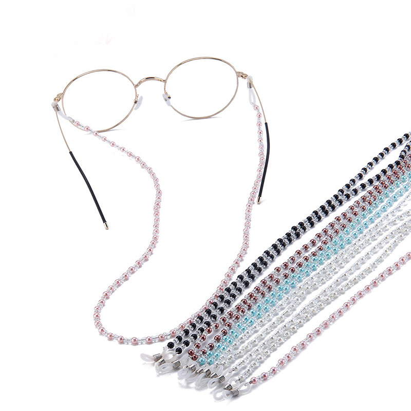 Luxury Glass Faux Pearl Beads Outdoor Glasses Sports Rope Eyeglasses Hanging Chain Sunglasses Lanyard Cord Choker Chain String