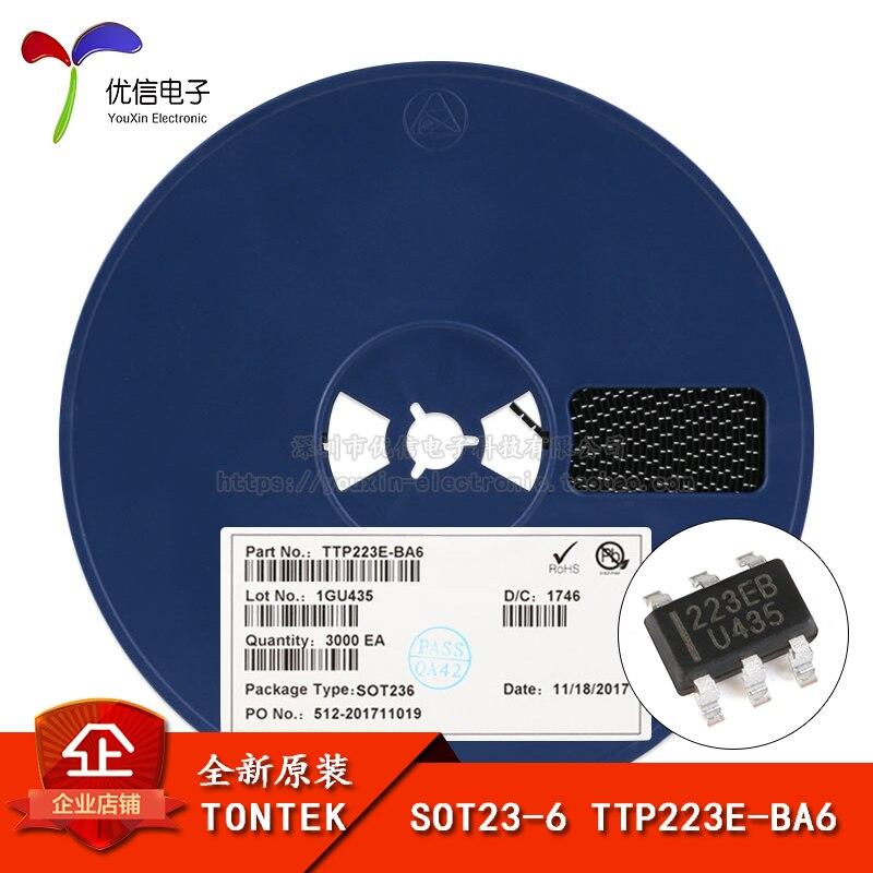 Подлинный оригинальный патч-TTP223E-BA6 SOT23-6 одним нажатием кнопки