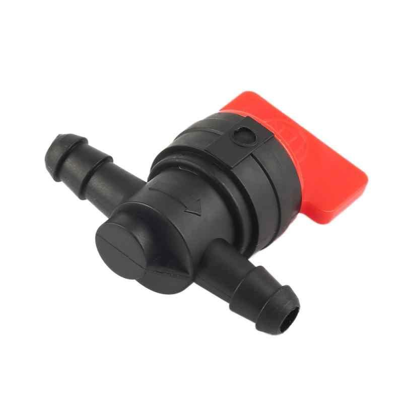 Válvula de gás inline para motocicleta, acessórios para carro, 1 peça, 1/4 polegadas, reta, para desligar/cortar, 90 graus, para motocicleta válvula pequena do motor ao ar livre