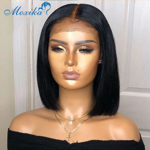 Bob Lace Front Wigs Bob Wig Lace Frontal Wig 13x4 Straight Lace Front Wig Pre Plucked Bleached Knots Wigs 150 Remy Closure Wig