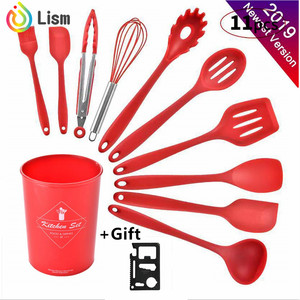 Image 5 - New Kitchen Gadgets Cooking Tools 12 Pcs Best Kitchen Set Cooking Utensil Tools Set Kitchen Utensils Silicone  with Holer Wooden