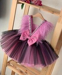 Платья для девочек; Летнее Детское платье принцессы; Бальное платье с круглым вырезом; Детская одежда с открытой спиной; Детский костюм для ...