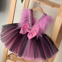 Girls Dresses Ball-Gown Kids Clothes Toddler Children Summer Costume Open-Back