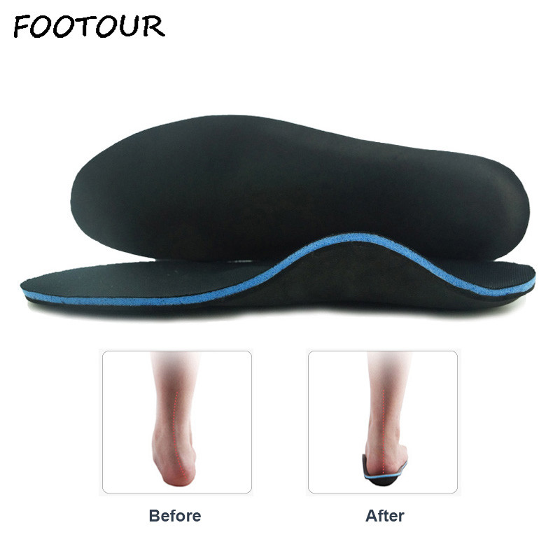 FOOTOUR Orthopedic Insoles Flat Feet Arch Support Orthotic Inserts Fascitis Plantar Feet Pain Pronation Insole For Men And Women