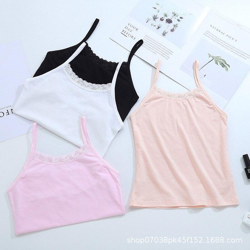 EuerDoDo Tops For Girls  Cute Crop Tops For Teens Summer Children's Top Teenager Undershirt Baby Camisole Clothing  Cotton Vest