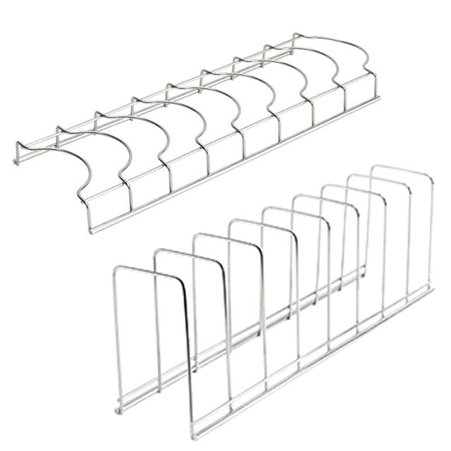Kitchen Organizer Stainless Steel Dish Bowl Rack Drying Shelf Utensil Cutlery Drainer Storage Holder 6