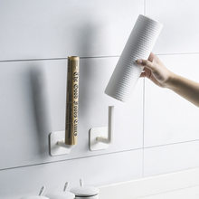 2 szt. Uchwyt na papier toaletowy stojak stojak na tkaninę naścienny wielofunkcyjny bezdotykowy stojak do przechowywania kuchnia półka łazienkowa organizer